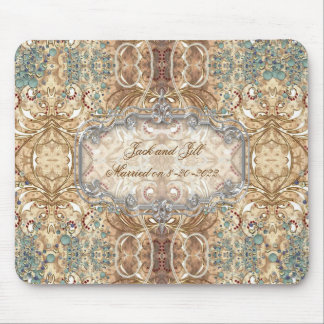 Wedding Ornate Pattern Design Victorian Style Mouse Pad