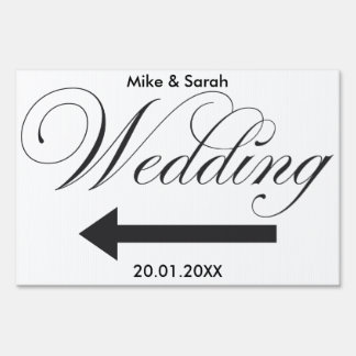 Wedding Outdoor yard sign