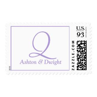 Wedding Oversize Alphabet Light Pastel Purple Postage