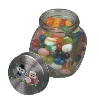 Wedding Owls Art Jelly Jar Gifts Glass Candy Jars
