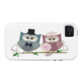Wedding Owls Electronic iPhone Case Case-Mate iPhone 4 Cover