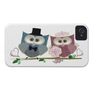 Wedding Owls Electronic iPhone Case Case-Mate iPhone 4 Cases
