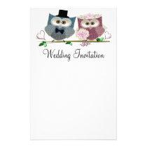 Wedding Owls Personalised Wedding Stationary Stationery