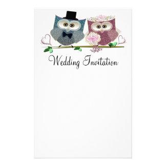 Wedding Owls Personalised Wedding Stationary Stationery Design