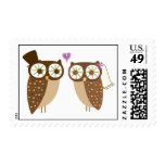 wedding owls postage