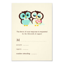 Wedding Owls Response Cards