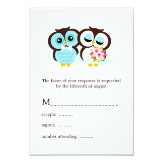 Wedding Owls RSVP Card