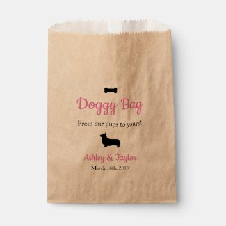 Wedding Paper Doggy Treat Bag