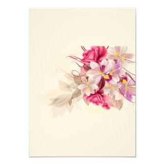 Wedding paper invitation with Luxury flowers