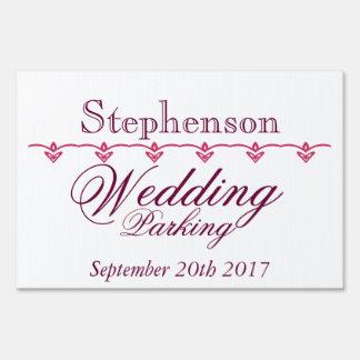 Wedding Parking Sign