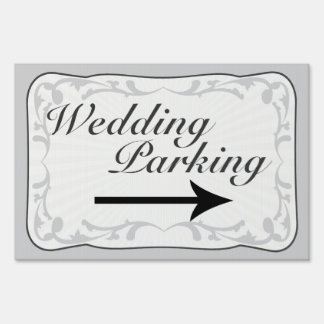Wedding Parking Sign, Directional Arrow Yard Sign