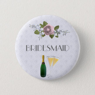 Wedding Party Button Bridesmaid