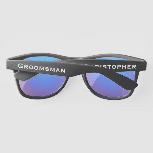 Wedding Party Custom Groomsman Plastic SunGlasses