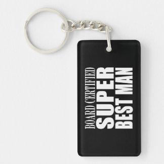 Wedding Party Favor Board Certified Super Best Man Acrylic Key Chain