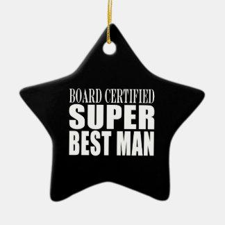 Wedding Party Favor Board Certified Super Best Man Christmas Tree Ornaments