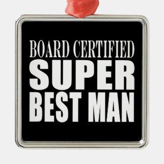Wedding Party Favor Board Certified Super Best Man Christmas Ornament