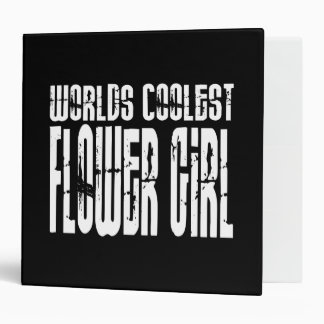 Wedding Party Favors : Worlds Coolest Flower Girl 3 Ring Binders