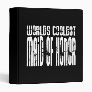 Wedding Party Favors Worlds Coolest Maid of Honor 3 Ring Binders