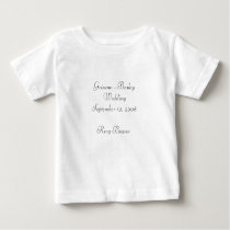 Wedding party for kids... - Customized Baby T-Shirt