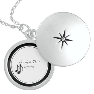 Wedding Party Gift Music Notes Locket