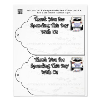 Wedding Party gift or favor Bag Tags Flyer