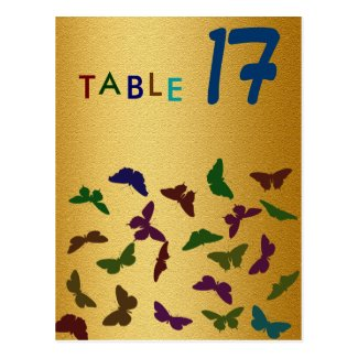 Wedding Party Gold Table Card