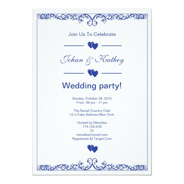 wedding party invitation zazzle