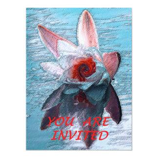 "Wedding/party invitation""Waterlilly"" 6.5x8.75 Paper Invitation Card"