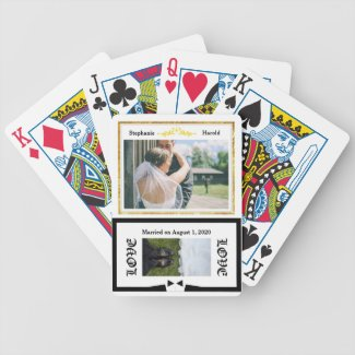 Wedding Party Keepsake Playing Cards