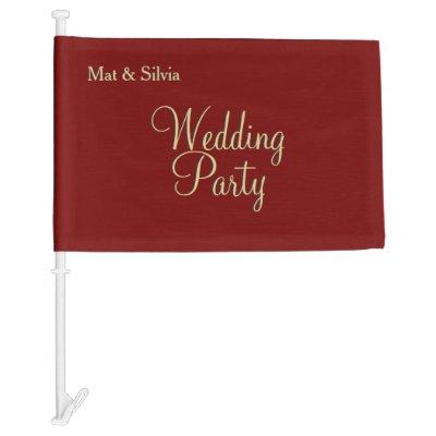 Wedding Party Marcella Car Flag