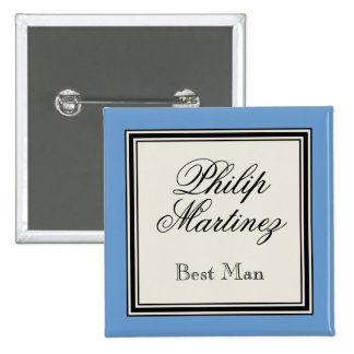 Wedding Party Name Tags - Best Man 2 Inch Square Button