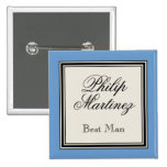 Wedding Party Name Tags - Best Man Buttons