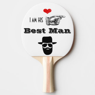Wedding Party Photo Props Hipster Mustache Beard Ping Pong Paddle