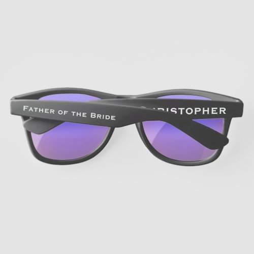 Wedding Party Plastic Glasses Sunglasses with Name