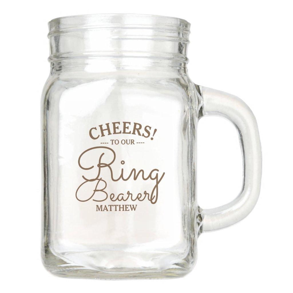 Wedding Party | Ring Bearer Personalized Mason Jar