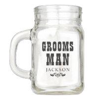 Wedding Party   Rustic Groosman Mason Jar