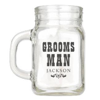 Wedding Party | Rustic Groosman Mason Jar