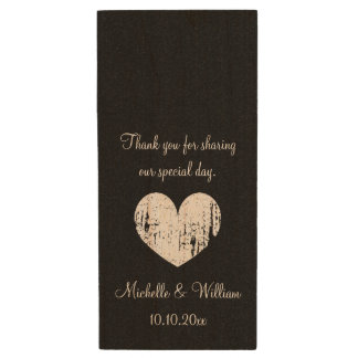 Wedding party thank you favor USB flash drives