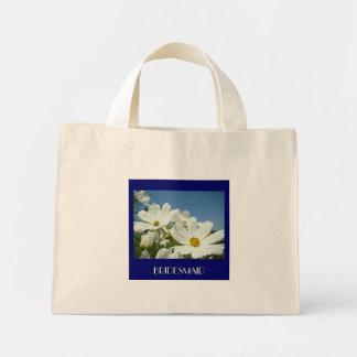 WEDDING PARTY Tote Bag gift White Daisies Bridal