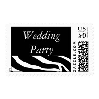 Wedding Party Zebra Postage
