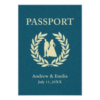 wedding passport personalized invitation