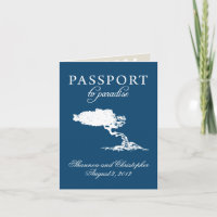 Wedding Passport Invitation to Aruba