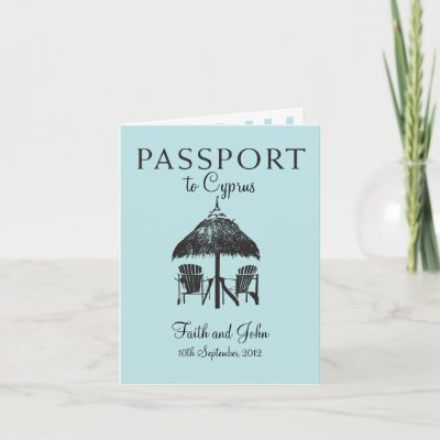 Wedding Passport Invitation to Cyprus