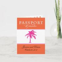 Wedding Passport Invitation to Mexico