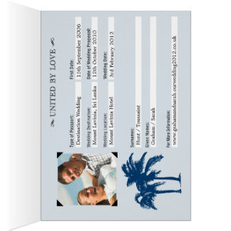 Wedding Passport Invitation to Sri Lanka Greeting Card