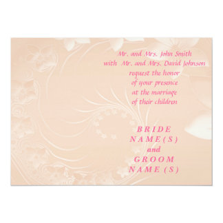 Wedding - Pastel Brown Abstract Flowers Card