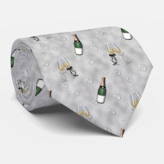 Wedding pattern champagne pattern tie