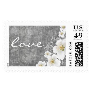 Wedding Peach Blossom Postage Stamp