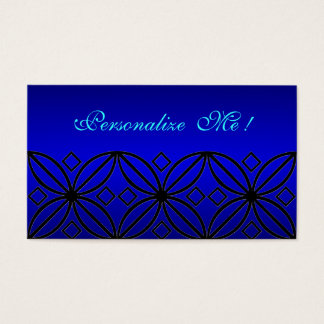 Wedding Peacock Blue Pattern Chic Lace Elegant Business Card