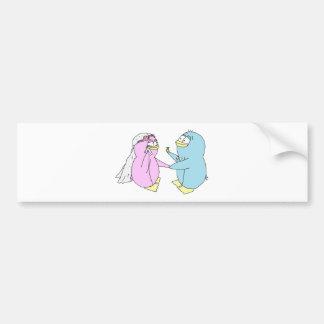 Wedding Penguins Bumper Sticker